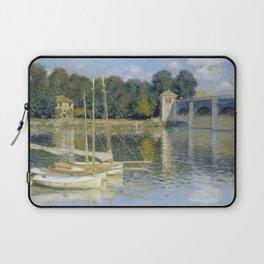 The Bridge at Argenteuil by Claude Monet Laptop Sleeve