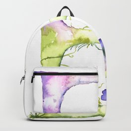 Letter E watercolor - Watercolor Monogram - Watercolor typography - Floral lettering Backpack