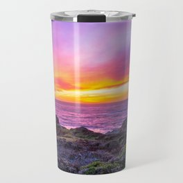 California Dreaming - Brilliant Sunset in Big Sur Travel Mug