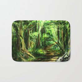 The Great Gaming Forest Bath Mat