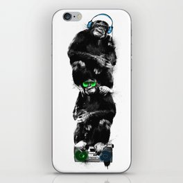 Monkey Music Retro Boombox. iPhone Skin