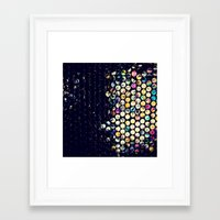 scandal Framed Art Prints featuring scandal texture by Laura Ferro