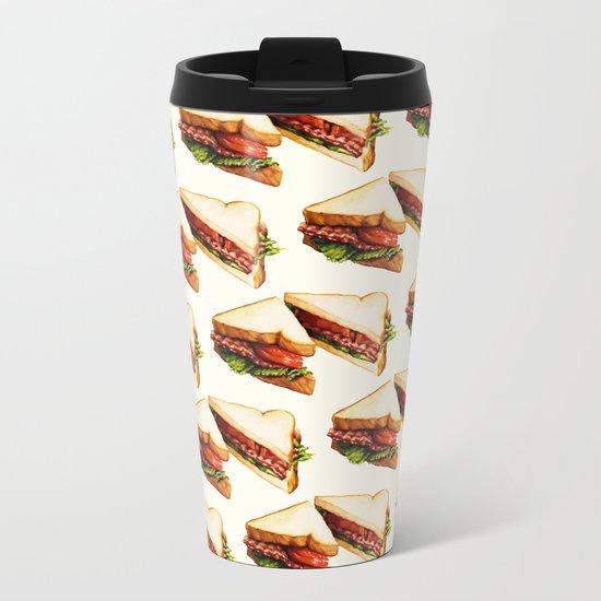 Sandwich Pattern BLT Metal Travel Mug