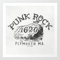punk rock Art Prints featuring Punk Rock Plymouth Ma. by Kris Petrat Design :  Art Love Moto