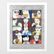 Drink Tea vertical Art Print