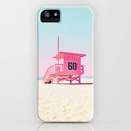 Pink Life Guard Tower - So Cal iPhone Case