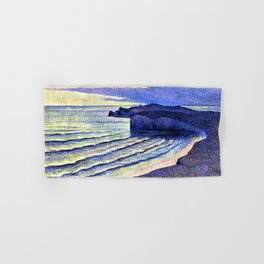 French Coastal Scene by Maximilien Luce Hand & Bath Towel