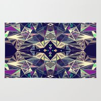 kaleidoscope Area & Throw Rugs featuring Kaleidoscope by QUEQZZ