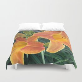 Garden Blooms - Orange Duvet Cover