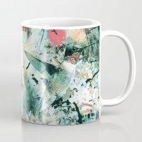 hummingbird Mugs featuring Hummingbird by RIZA PEKER