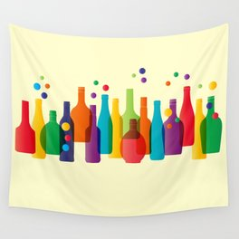 Colored bottles Wall Tapestry