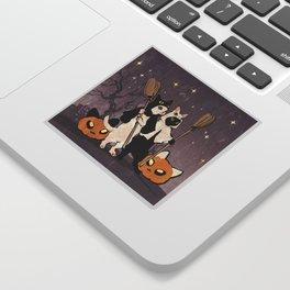 halloween cats Sticker