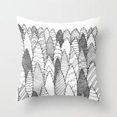 Pattern Trees Throw Pillow