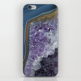 Amethyst Geode Agate iPhone Skin