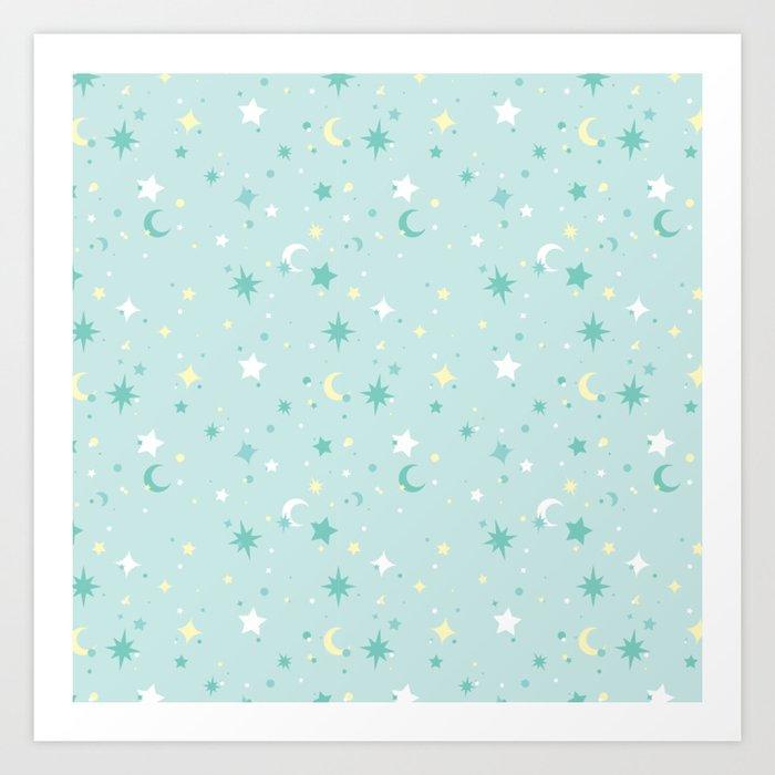 Twinkle Twinkle - Mint Art Print