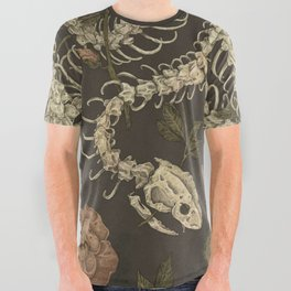 Snake Skeleton All Over Graphic Tee