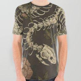 Snake Skeleton All Over Graphic Tee