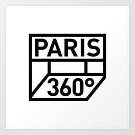 Paris 360° Art Print