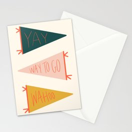 Motivational Pennants  Stationery Cards