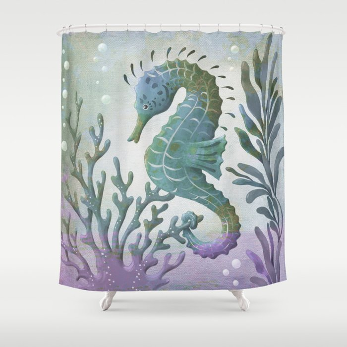 Seahorse Shower Curtain By Stevehaskamp