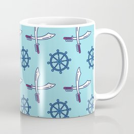 Pirates Elements Pattern  Coffee Mug