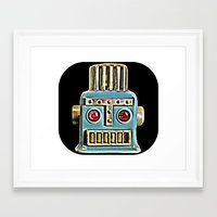 robot Framed Art Prints featuring Robot by Silvio Ledbetter
