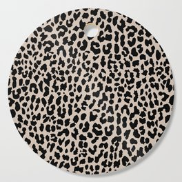 Tan Leopard Cutting Board