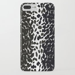 Animal Print Cheetah Love Black and White #2 Collection iPhone Case