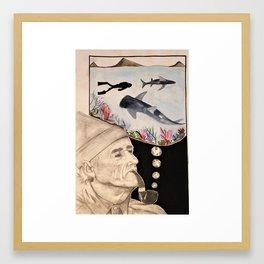 Jacques-Yves Cousteau Framed Art Print