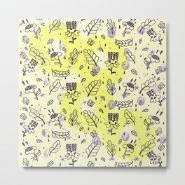 summer flowers pattern Metal Print