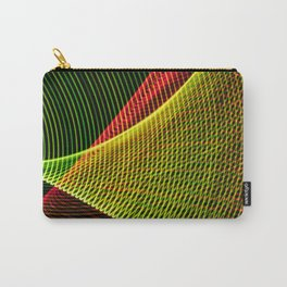 Abstract colorful lines on black background. Carry-All Pouch