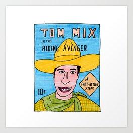 Tom Mix Comic Art Print