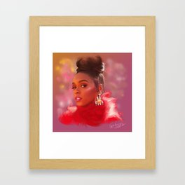 Janelle Monae | Digital painting Framed Art Print