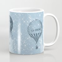 hot air balloons Mugs featuring Hot Air Balloons by Zen and Chic