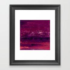 purple atmosphere Framed Art Print