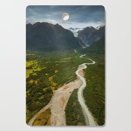 New Zealand - Flying through the Fox Glacier valley Cutting Board