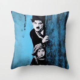 KINO - Chaplin and the kid Throw Pillow