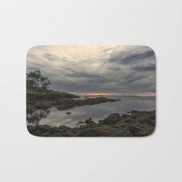 October Sunset at Plum cove Beach Bath Mat