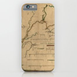 Map Of Mammoth Cave 1835 iPhone Case