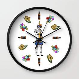 Keith Richars-  rock and roll life Wall Clock