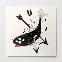 darkwood fish Metal Print