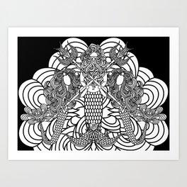 Tunes with Nep 2 Art Print