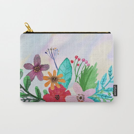 Flower bouquet watercolor #7 Carry-All Pouch
