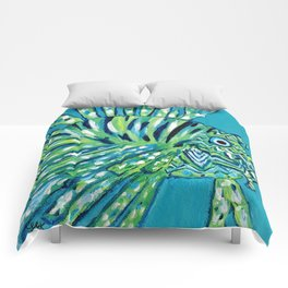Lion Fish 1, a pretty predator Comforters