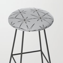 starburst in black and white on grey Bar Stool