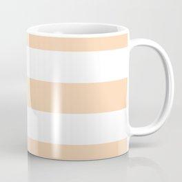 Feldspar -  solid color - white stripes pattern Coffee Mug