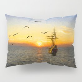 New adventures painting - by Brian Vegas Pillow Sham
