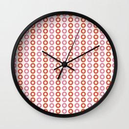 Rose Orange 01 Wall Clock