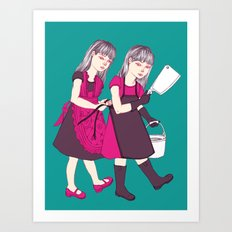 Up To No Good (Color) Art Print