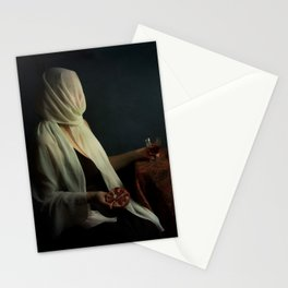 Lady justice with  pomegranate Stationery Cards